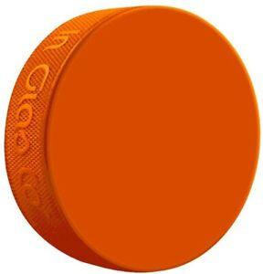 Inglasco Orange Weighted 10oz Training Hockey Puck