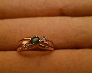 Toller Ring Gelbgold 585 mit Smaragd Zirkonia