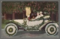 [49279] OLD POSTCARD TOURNAMENT OF ROSES FLORAL FLOAT PARADE IN PASADENA, CA