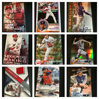 2018 TOPPS SERIES 1 TOPPS INSERTS, Legends, Parallels, Trout (You Pick Card) BJ