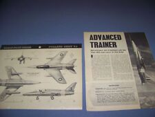 Vintage.Folland Gnat T.1. 4-Views/Details/Cutaway.R are! (563E)