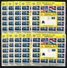 10x PARAGUAY 1976 Space Raumfahrt Mondbrief Block 279 ** MNH KW €200