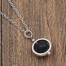 Lava Rock Necklace Volcanic Stone Pattern Rock Pendant Jewelry Women Chic Gift