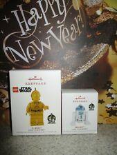 2 Hallmark Keepsake Ornament NEW Disney Star Wars LEGO C-3PO & R2-D2 Lot 20 Year
