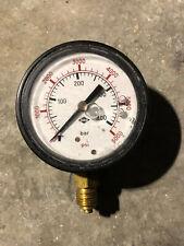 Glycerin Pressure Gauge 63mm Dial Bottom Entry Connection 400 Bar Range 6000 PSI