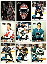 1991-92 PRO SET CC COMPLETE 9 CARD INSERT SET LOT Rare Mint Falloon Niedermayer
