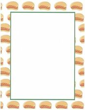 Hot Dogs Stationery Printer Paper 26 Sheets