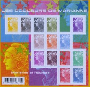 FRANKREICH FRANCE - 2009 MARIANNE COULEURS 4608-12 KLEINBOGEN ** - F4409
