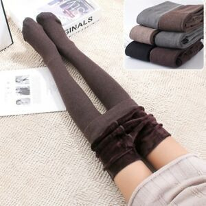 Fashion Women's Fur Lining Winter Thicken Warm Tights Seamless Knitted Pantyhose