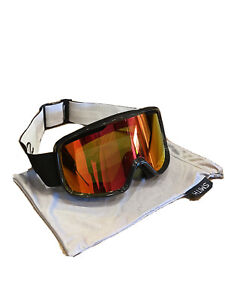 Smith Frontier Snow Goggles, Black Frame, Red Sol-X Mirror Lens 2021