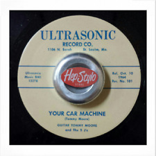 "45Re✦GUITAR TOMMY MOORE✦""Your Car machine""/I Ain't Botherin' Nobody""Crude Blues♫"