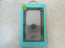 NEW Kate Spade Ring Stand and Case for iPhone XS MAX - Black Scallop Multi/Clear