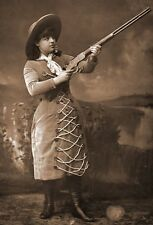 New Art Print of 1886 Photo Of Sharp Shooter Lillian Smith WIld West Show 11X17