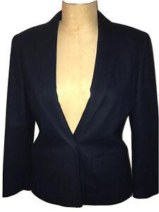Women's PENDELTON Navy 100% Virgin Wool Blazer Jacket Single Button Size 10