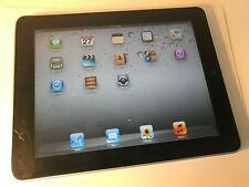 Apple Ipad 1st Generación Tablet 16GB Negro Y Plateado-A1219 pantalla grietas