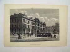 Antique Victorian Illustrated Print Buckingham Palace London England