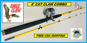 EAGLE CLAW Saltwater 8' CAT CLAW Combo BRAND NEW! FREE USA SHIPPING! #MSCC802MHC