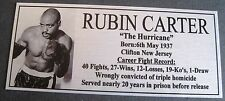 Boxing Rubin Carter Photo Free Postage