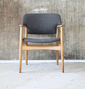 Vintage Fritz Hansen 60er Eiche Armlehnstuhl Sessel MidCentury 60s Oak Chair