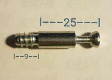 7x Einschraubdübel 25 mm/9mm Schrauben Stehbolzen passend f. RASTEX Exzenter