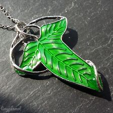 Lord of the Rings Leaf Necklace Brooch Pin & Chain Elven LOTR UK Seller