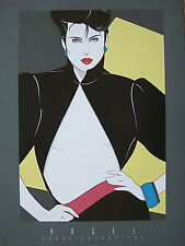 OFFICIAL PATRICK NAGEL SITE:  POSTER PRINT OPEN JACKET, MINT / w/ best prices!