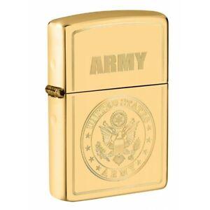 U.S. Army Polished Brass Zippo Lighter