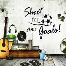 Shoot For Your Goals Soccer Wall Stickers Decals Chilren Room Decoration XU
