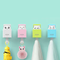 Strong Cute Cat Gravity Induction Suction Cup Wall Hook Hanger Kitchen Bathroom!
