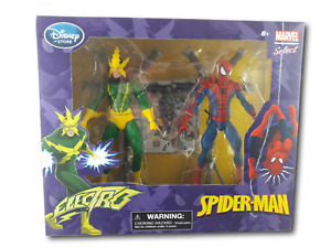 Marvel Select Spider-Man & Electro Action Figures Disney Store Exclusive