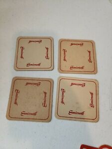 Lot of 4 Vintage Beer coasters SMIMOFF Rare Finds