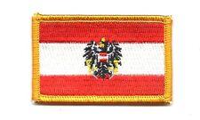 Parche bandera PATCH AUSTRIA CON AGUILA REAL 7x4,5cm bordado termoadhesivo nuevo
