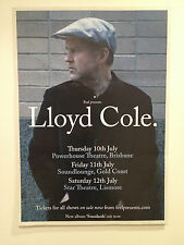 LLOYD COLE 2014 Australian Tour Poster A2 *BRISBANE GOLD COAST LISMORE ONLY*NEW*