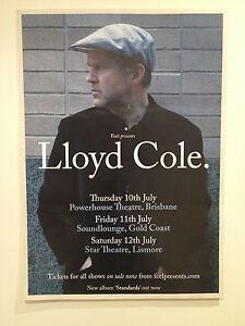 LLOYD COLE 2014 Australian Tour Poster A2 *BRISBANE GOLD COAST LISMORE ONLY*NEW*