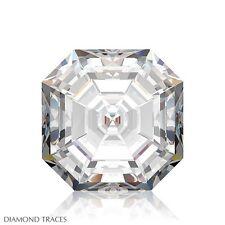 1.05ct G-SI2 Ideal Cut Asscher AGI 100% Genuine Diamond 5.58x5.55x3.93mm