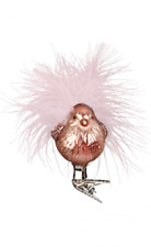 "Inge Glas ""Romantic Birdie"" Clip-On Bird Glass Ornament - Made in Germany (#433)"