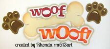 WOOF WOOF DOG boy pet paper piecing TITLE  Premade Scrapbook Pages by Rhonda