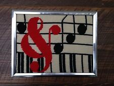 70's Modern Musical Needlepoint
