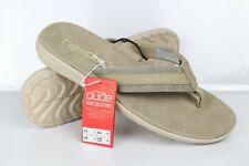 Hey Dude Men's Sami Sox Flip Flop Comfort Sandals Size 11 Beige