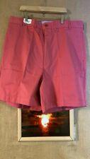 NWOT Land's End men's flat front solid pink Bermuda  short size 44