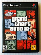 Grand Theft Auto III 3 ~Complete Playstation 2 Video Game ~ Rare Black Label PS2