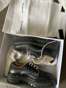 Nib $795 Proenza Schoulder Laced Oxfords Black 38