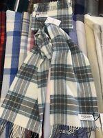 Lochcarron 100% Lambswool tartan Scarf | Stewart Blue Dress | Made in Scotland