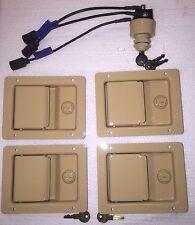 HUMVEE SECURITY KIT - Desert Tan Locking Door Handles & Keyed Ignition Switch