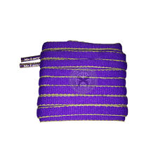Mr Lacy Slimmies - Violet & Yellow Oval Shoelaces - 130cm Length 8mm Width