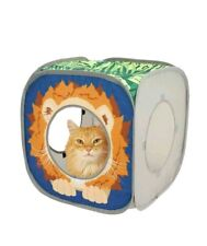 Kitty City Lion Play Cubee, Cat Cube, Play Kennel, Cat Bed, Jungle Cat House