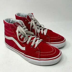 Vans Men's Shoes sz 7 ½ High Top Sneakers Off the Wall Skateboard Skater Red