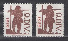 Schweiz Soldatenmarken Kommandostäbe 9. Div. * Aufdruck 1939 rot und orange