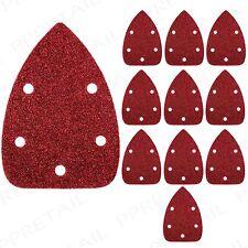 10 Pack HOOK & LOOP DETAIL SANDER SHEETS 140mm Coarse 60 Grit Palm Sandpaper Pad