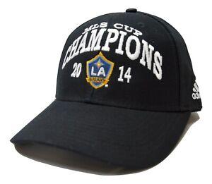 Los Angeles LA Galaxy Adidas Adjustable 2014 MLS Cup Champions Soccer Cap